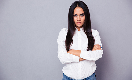 angry single woman