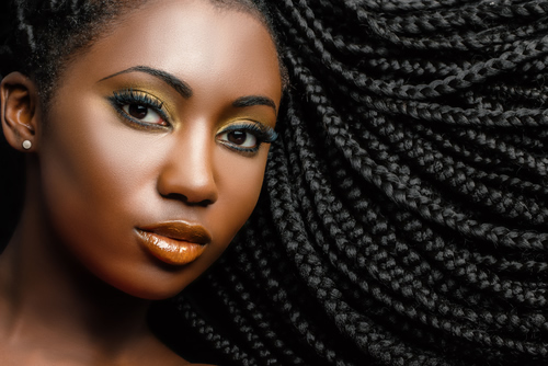 african american woman in braids