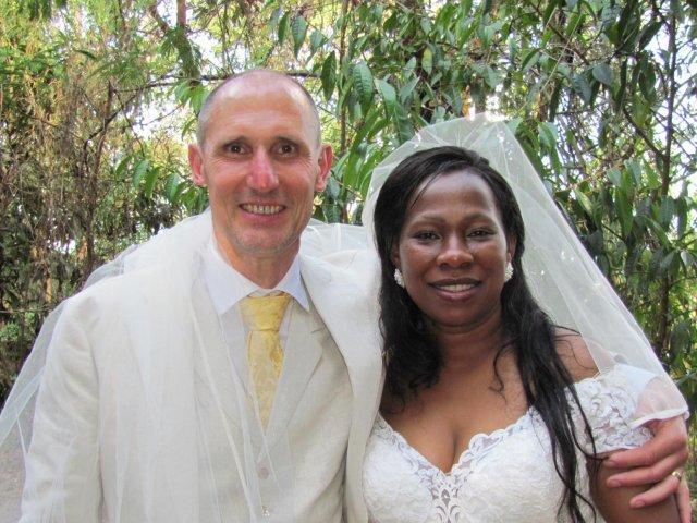 Interracial Marriage Mary & Werner - Westmalle, Antwerpen, Belgium