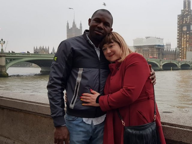 Interracial Couple Mihaela & Kalu - England, United Kingdom