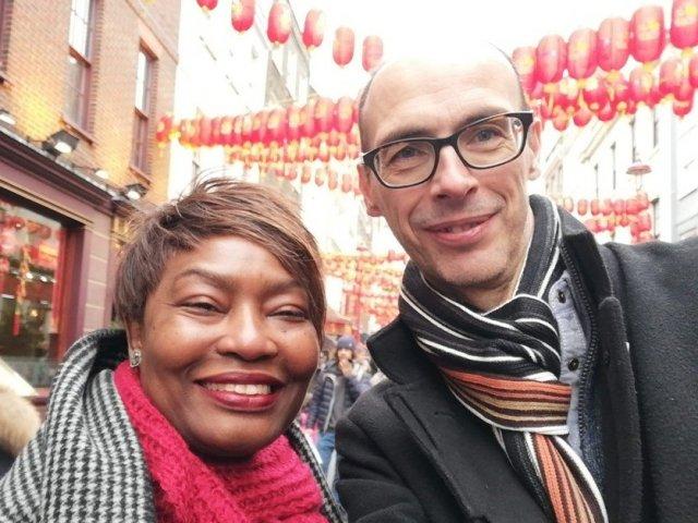 Interracial Couple Eucharia & Richard - London, England, United Kingdom